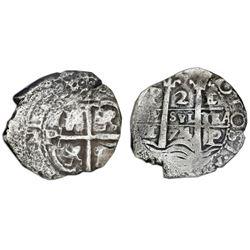 Potosi, Bolivia, cob 2 reales, 1674E, ANACS VF 30 / Consolacion, ex-Bir.