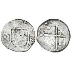 Seville, Spain, cob 8 reales, Philip V, assayer M, very rare.