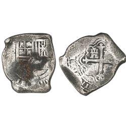 Mexico City, Mexico, cob 8 reales, Charles II, assayer G.