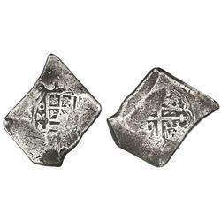 Mexico City, Mexico, cob 8 reales, 1702L, rare.