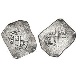 Mexico City, Mexico, cob 8 reales, (1)714(J), new style.
