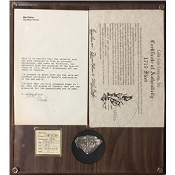 Mexico City, Mexico, cob 8 reales, Philip V, assayer J, mounted in large plaque with tag, certificat
