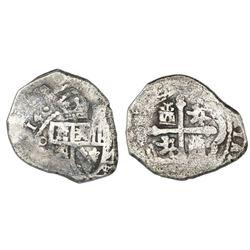 Mexico City, Mexico, cob 4 reales, (17)14J.