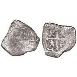 Mexico City, Mexico, cob 4 reales, Philip V, assayer not visible.
