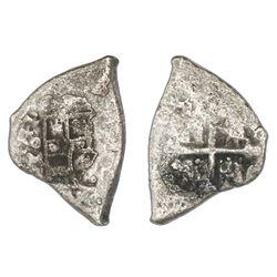 Mexico City, Mexico, cob 2 reales, 1711J, rare.