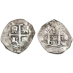 Lima, Peru, cob 8 reales, 1701H.
