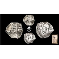Potosi, Bolivia, cob 8 reales, 1709Y, very rare and popular provenance, in original frame with certi
