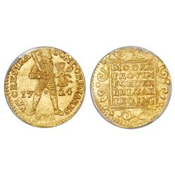 Utrecht, United Netherlands, gold ducat, 1724, PCGS MS63.