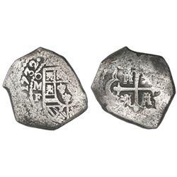 Mexico City, Mexico, cob 8 reales, 1732/1F.