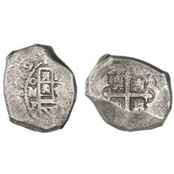 Mexico City, Mexico, cob 8 reales, 1732F.