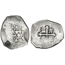 Mexico City, Mexico, cob 8 reales, (17)3(?), assayer not visible.