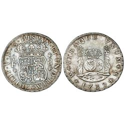 Mexico City, Mexico, pillar 8 reales, Philip V, 1739MF.