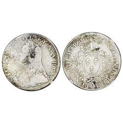France (Paris mint), ecu, Louis XV, 1726-A, NGC genuine / La Dramadaire.