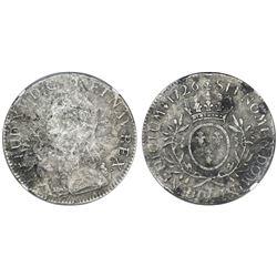 France (Nantes mint), ecu, Louis XV, 1726-T, NGC genuine / La Dramadaire.