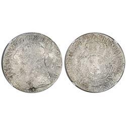 France (Pau mint), ecu, Louis XV, 1727, mintmark cow, NGC genuine / La Dramadaire.