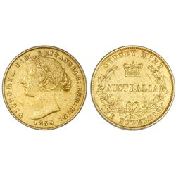 Sydney, Australia (under Great Britain), gold sovereign, Victoria (young bust), 1859.