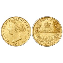 Sydney, Australia (under Great Britain), gold sovereign, Victoria (young bust), 1870.