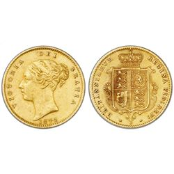 Sydney, Australia (under Great Britain), gold half sovereign, Victoria (young bust), 1872-S.