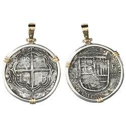 Granada, Spain, cob 4 reales, Philip II, assayer oF above denomination oIIII to right, ex-Santiago (