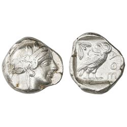 "Attica, Athens, AR tetradrachm, ""owl,"" ca. 454-404 BC."