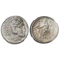 "Kings of Macedon, AR tetradrachm, Alexander III (""the Great""), 336-323 BC, early posthumous issue, A"