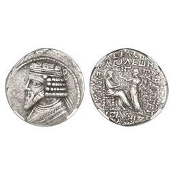 Parthian Kingdom, AR tetradrachm, Gotarzes II, ca. 44-51 AD, NGC (no grade).