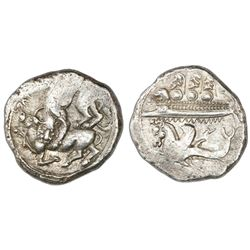 Phoenicia, Byblos (gebal), AR shekel, Azbaal, ca. 400-340 BC, ex-Bir.