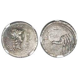 Roman Empire, AR denarius, L. Cornelius Sulla (died 79 BC), 82 BC, NGC XF, strike 4/5, surface 4/5.