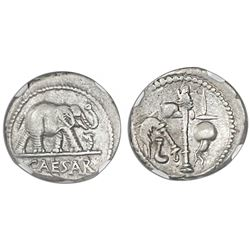 Roman Empire, AR denarius, Julius Caesar (died 44 BC), ca. 49-48 BC, military mint traveling with Ca