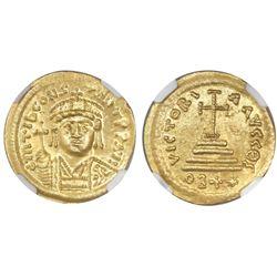 Byzantine Empire, AV solidus, Tiberius II Constantine, 578-582 AD, 22-siliqua-weight issue (rare), N