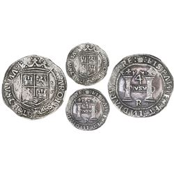 "Mexico City, Mexico, 4 reales, Charles-Joanna, ""Early Series,"" assayer R (Latin), rounded panel, mot"