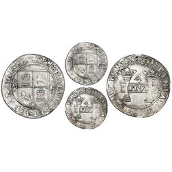 """Mexico City, Mexico, 4 reales, Charles-Joanna, """"Early Series,"""" assayer F/P to right, mintmark M to l"""