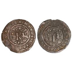 Mexico City, Mexico, copper 4 maravedis, Charles-Joanna,  Late Series,  no assayer (assayer-G period