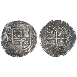 Mexico City, Mexico, cob 8 reales, 1609A, NGC VF 35.