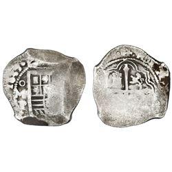 Mexico City, Mexico, cob 8 reales, 1637/6P, very rare, ex-Concepcion (1641), ex-Rudman.