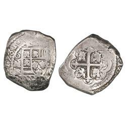 Mexico City, Mexico, cob 8 reales, 1731/0F/G, rare.