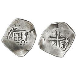 Mexico City, Mexico, cob 4 reales, 1650/49P, rare.