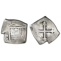Mexico City, Mexico, cob 4 reales, (1666)G/P, rare.