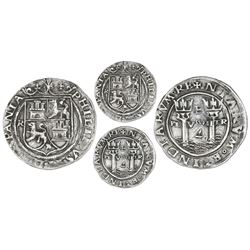 Lima, Peru, 4 reales, Philip II, assayer R (Rincon) to left (small), PL-VSVL-TR, legends HISPANIA /