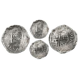"Lima, Peru, cob 8 reales, 1659V, ""Star of Lima"" type, Series II (star with three surrounding dots, m"