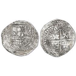 Potosi, Bolivia, cob 8 reales, 1617M.