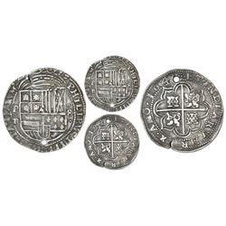 Potosi, Bolivia, cob 8 reales Royal (galano), 1643TR, very rare.
