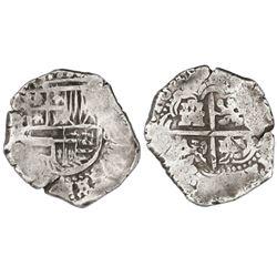 Potosi, Bolivia, cob 8 reales, 1648Z, very rare.