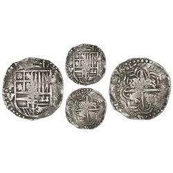 Potosi, Bolivia, cob 4 reales, 1646V/T, extremely rare.