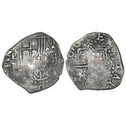 Potosi, Bolivia, cob 2 reales, (1)618PAL, rare, ex-Concepcion (1641), ex-Rudman.