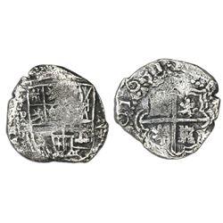 Potosi, Bolivia, cob 2 reales, 1631T, rare, ex-Concepcion (1641), ex-Rudman.