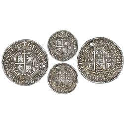 Potosi, Bolivia, cob 8 reales Royal (galano), 1659E.