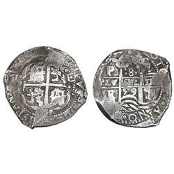 Potosi, Bolivia, cob 8 reales, 1659E, NGC VF 35.