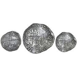 Potosi, Bolivia, cob 8 reales Royal (galano), 1715Y.