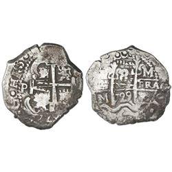 Potosi, Bolivia, cob 8 reales, 1729M.